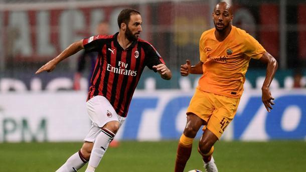 Higuain con el Milán. Fuente; guetty