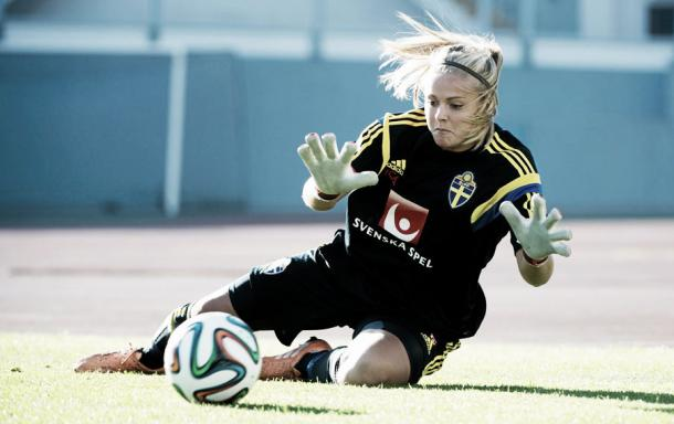 Hilda Carlén's impressive play in 2015 helped book her a place in Sweden's World Cup squad (Carl Sandin)