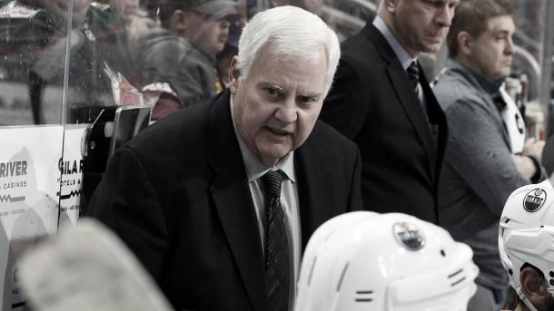 Hitchcock en un partido con los Oilers | Foto: NHL.com