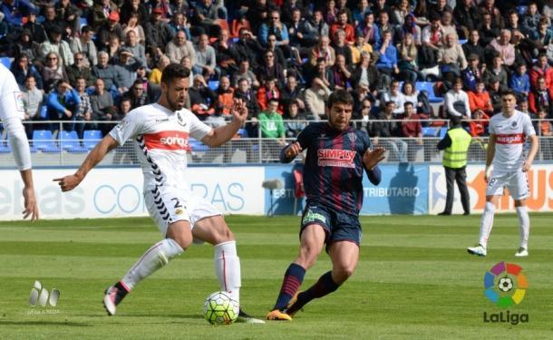 El Huesca marcó el 1-0 en el 10' | Foto: LaLiga.