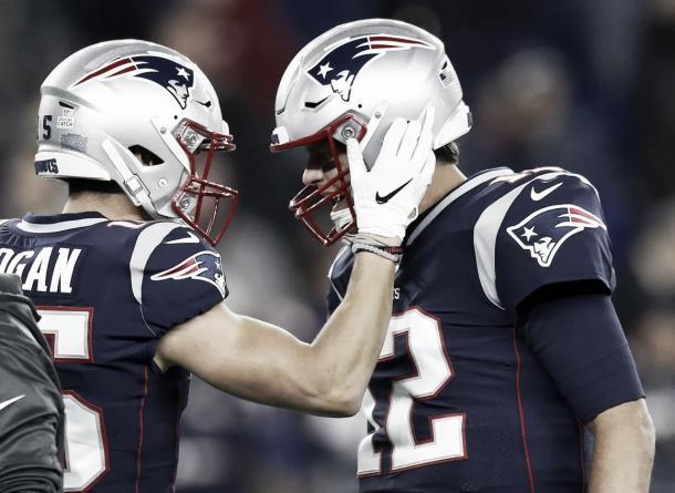 Chris Hogan en 4 maravillosas recepciones avanzó 78 yardas | Foto: Patriots.com