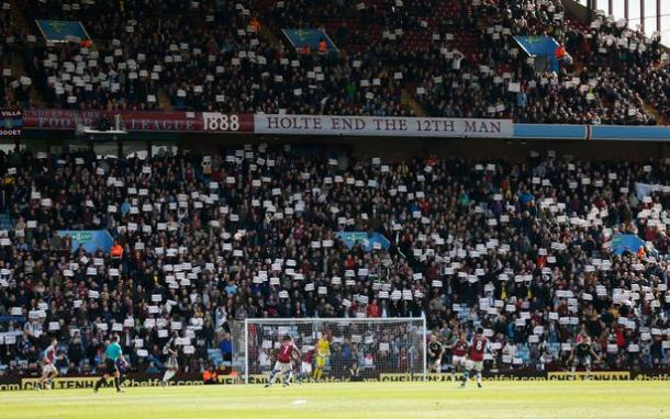 The Holte End was rife with protests last week (photo: zimbio)