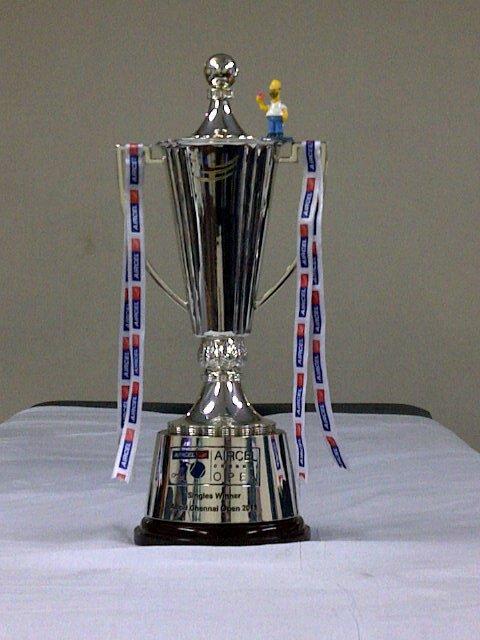 Este es el trofeo que se llevará quien se corone campeón. Foto: On The Go Tennis