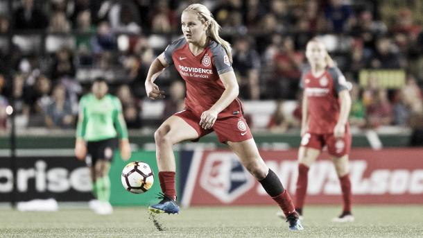 Lindsey Horan with the Portland Thorns FC | Photo: NWSLsoccer.com