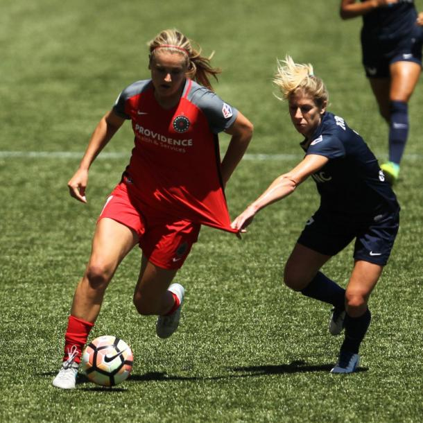 Lindsay Horan played role in Thorns win. | Photo: Portland Thorns