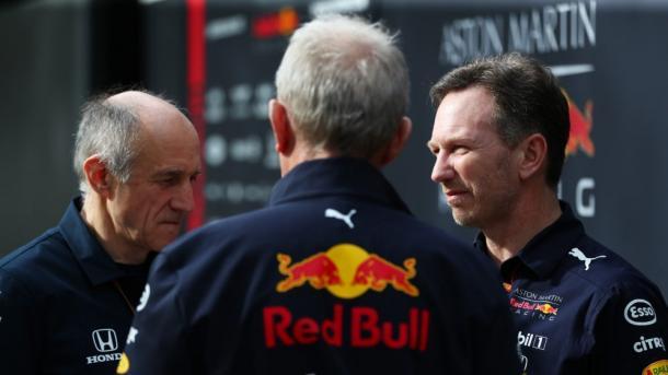 Tost y Horner hablando. Foto: F1
