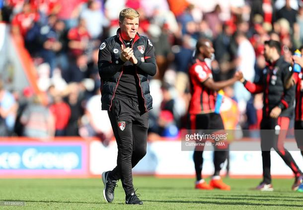 Eddie Howe applauds Bournemouth's performance against Tottenham | Photo: Catherine Ivill