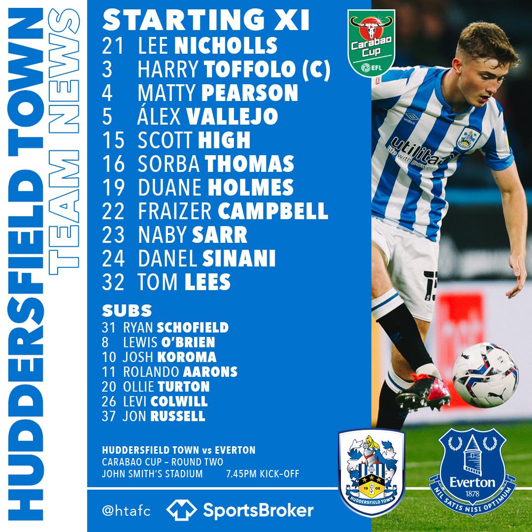 Huddersfield starting XI   Photo: Huddersfield Town