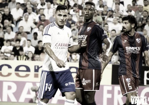 Derbi aragonés correspondiente a la temporada 2016/17 disputado en el Estadio de la Romareda / Foto:Vavel.com