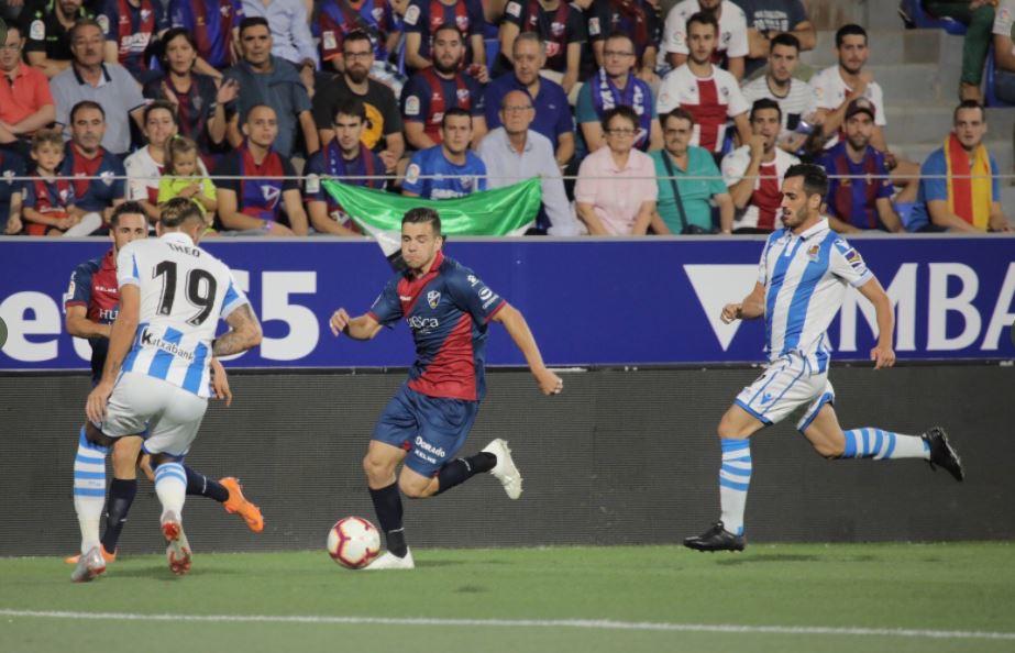 Partido entre el Huesca y la Real Sociedad en la temporada 2018/19 // Foto: SD Huesca