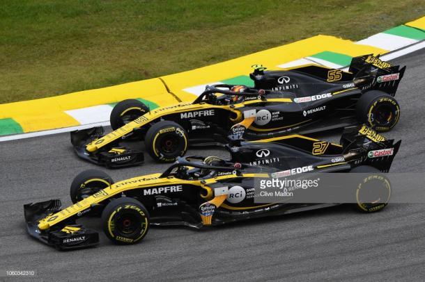 Hulkenberg y Sainz han vivido una gran batalla en Renault. Foto: Getty Images.