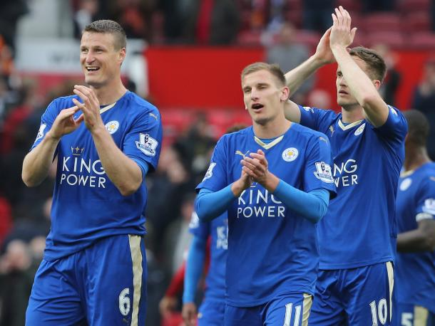 Robert Huth and Marc Albrighton could return to the Leicester line-up on Saturday evening | Photo: Getty