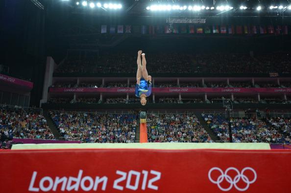A ginasta conquistou a 20ª posição no individual geral em Londres (Foto: AFP/Getty Images)