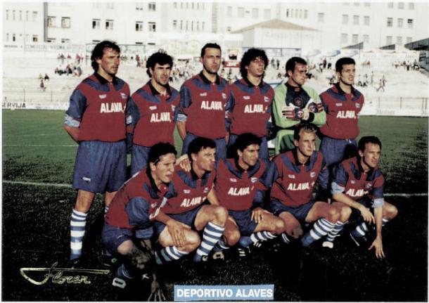 Iván Campo, con la camiseta del Alavés. / Foto: Glorioso.net