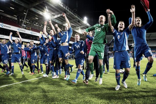 For such a small country, Iceland produced big celebrations in qualifying | Credit: Getty