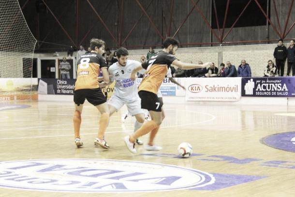 Iago Rodríguez en su partido contra Ribera Navarra esta temporada | Foto : @RiberaNavarraFS