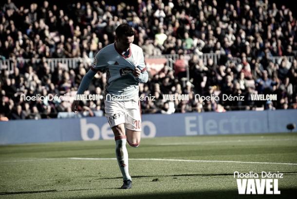 Iago Aspas festeja uno de los once goles que acumula esta temporada I Foto: Noelia Déniz (VAVEL)