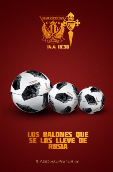 Cartel on-line del Leganés - Celta | Fuente: CD Leganés