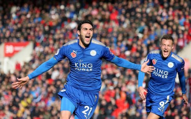 Iborra ha anotado un gol con los foxes   Foto: Premier League