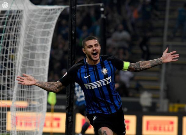 Icardi celebrando un gol / Foto: Inter de Milán