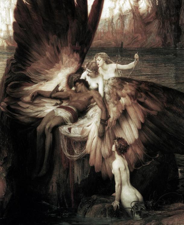 El lamento por Ícaro (1898), de Herbert James Draper (1863-1920). Wikipedia (PD).