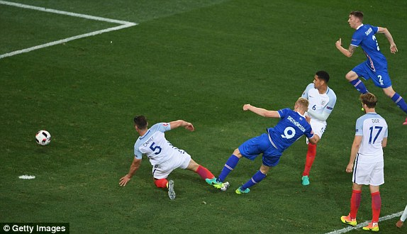 A weak shot somehow found it's way in for Iceland's winning goal (photo: Getty Images)