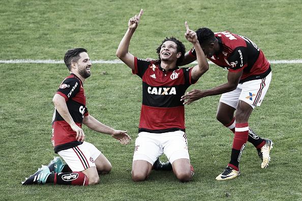 Willian Arão ampliou o placar e marcou o segundo gol do Flamengo na partida (Foto: Buda Mendes/Getty Images)