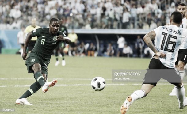 Ighalo tuvo esta gran ocasión con 1-1 frente a Argentina / Fuente: Getty Images