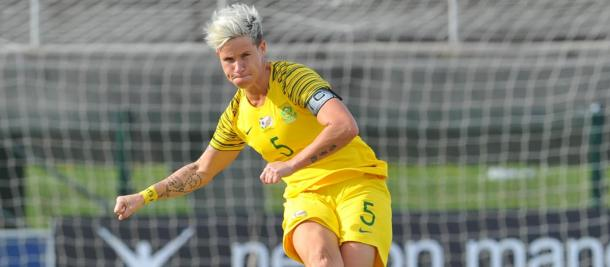 Janine van Wyk has waited a long time to led her country at the World Cup | Source: SAFA