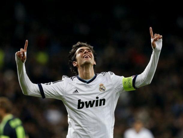 Kaka celebrando un gol con el Real Madrid. Fuente:Real Madrid