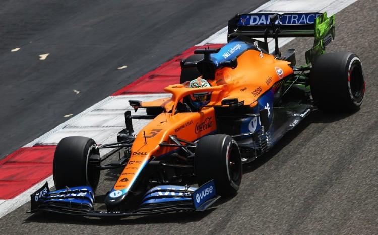 Ricciardo rodando en el McLaren. Foto: Formula 1