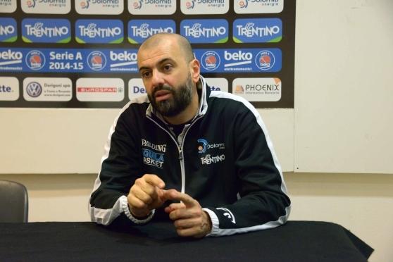 Maurizio Boscaglia, coach di Trento. Fonte foto: trentinocorrierealpi.gelocal.it