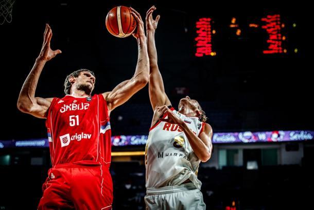 Marjanovic está siendo el mejor jugador del encuentro (Foto: FIBA)