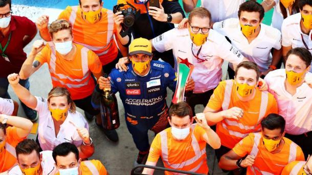 Celebración del segundo puesto (Fuente: F1)