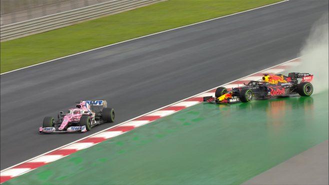 Trompo de Verstappen (Fuente: F1.com)