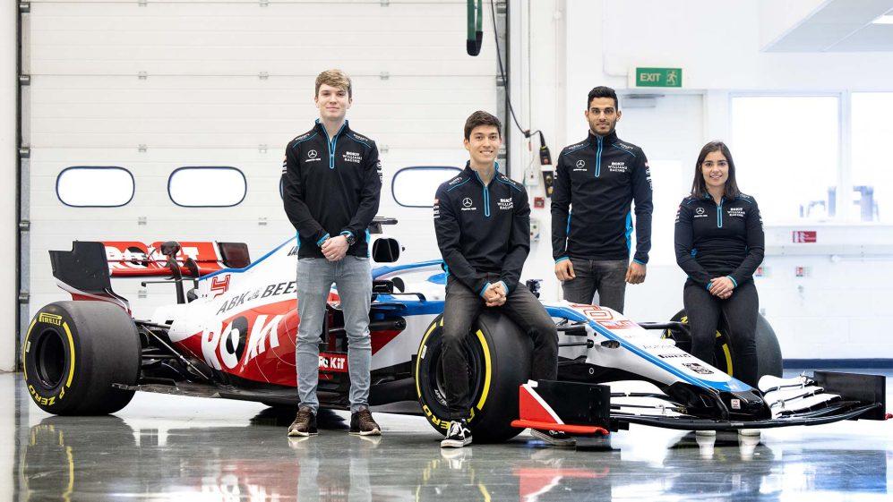 Dan Ticktum junto al resto de pilotos de la academia de Williams. Vía: soymotor.es
