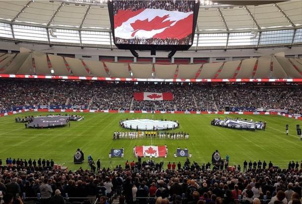 BC Place en un partido de Whitecaps FC (blastmediainc.com)
