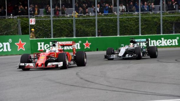 In Canada, Ferrari's strategy probably cost Sebastian Vettel a third victory of the season (Image Credit: Sky Sports)