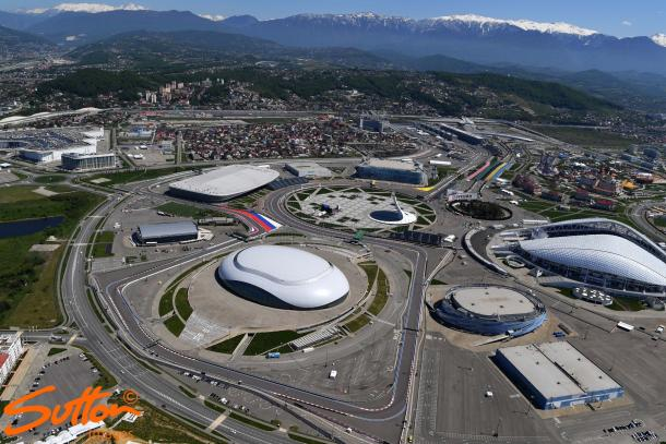 Sochi is a beautiful location, but the geography makes for a poor race track. (Image Credit: Sutton Images)