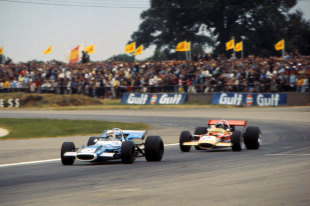 Stewart held off the challenge of Rindt to win his maiden British Grand Prix (Image Credit: Sutton Images)