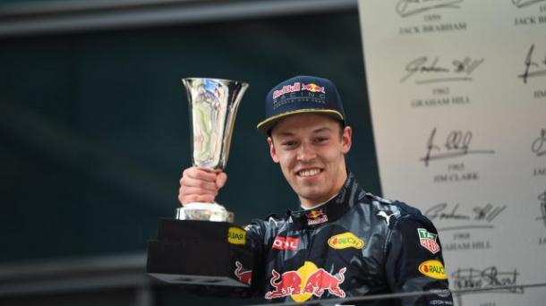 Barely three weeks after his Chinese podium for Red Bull, Danill Kvyat was harshly demoted to Toro Rosso, and has struggled badly since. (Image Credit: F1.com)