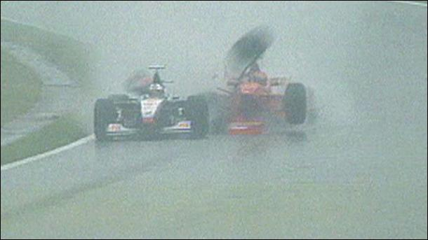 1998 was one of the great wet weather drives - until (Image Credit: BBC)