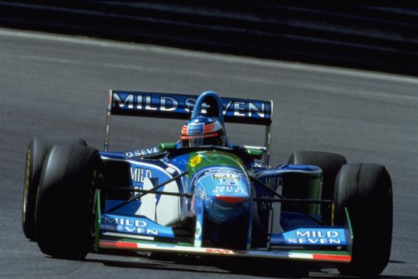 Schumacher and contreversary was commonplace in 1994 and disqualification at Spa wasn't the first and certainly wasn't the last. (Image Credit: Ford)