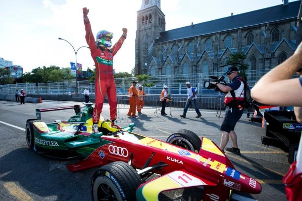 Lucas di Grassi was 43 points behind after Paris, but won the title by 24 points from Buemi. (Image Credit: Abt Schaeffler Audi Sport)