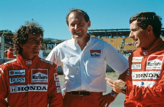 Seen here with Alain Prost and Ayrton Senna, the late 1980's, early 1990's were McLaren's heyday. (Image Credit: Jose Romero Lopez - Pinterest)