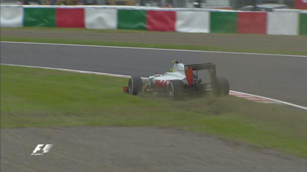 Esteban Gutierrez's off was as dramatic as FP3 got. (Image Credit: Formula One, @F1 Twitter)