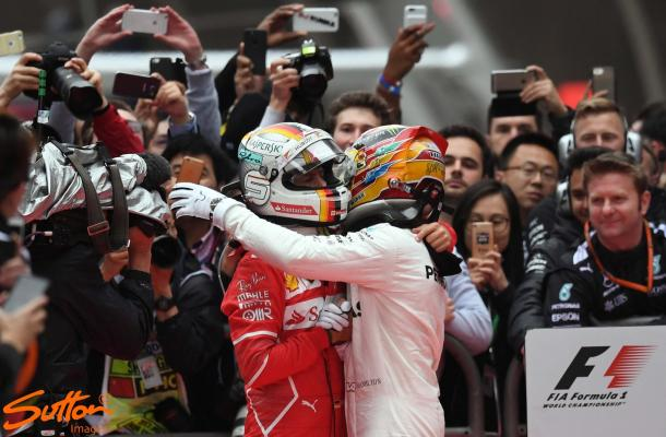 Vettel and Hamilton are so far enjoying their duel for the title, but who will emerge victor this weekend? (Image Credit: Sutton Images)
