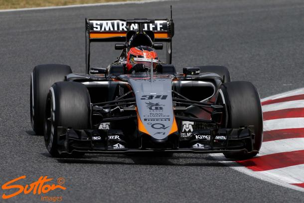 Ocon has previous experience at Force India, driving for them in both in-season tests in 2015. (Sutton Images)