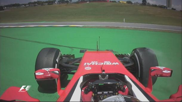Sebastian Vettel's late spin was as dramatic as FP1 got. (Image Credit: Formula One)