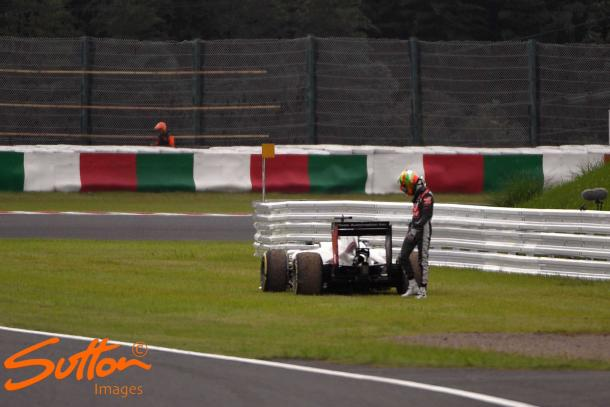 Stopping on the exit of Dunlop, Esteban Gutierrez's Haas brought out a very poignant VSC. (Image Credit: Sutton Images)